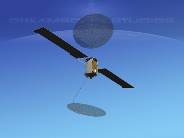 3D muos communications satellite