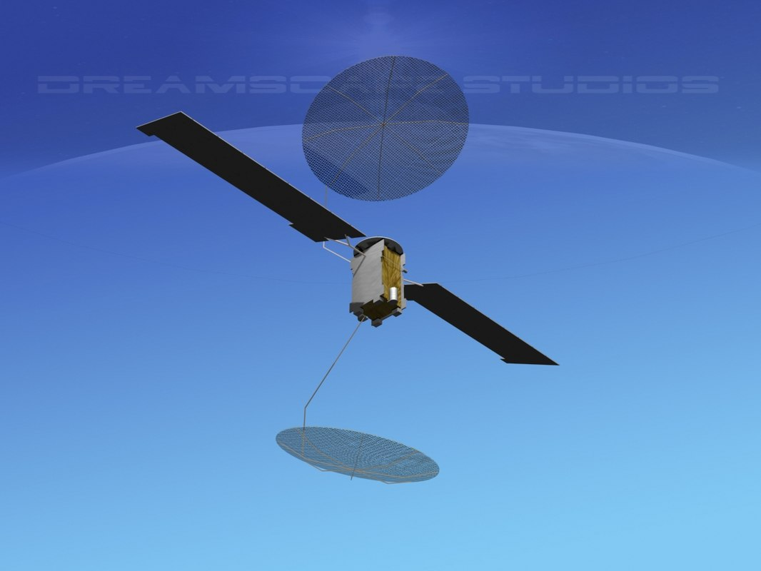 3D muos communications satellite
