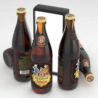 beer paulaner 3D model