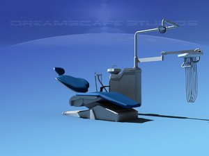 3D model dental exam chair