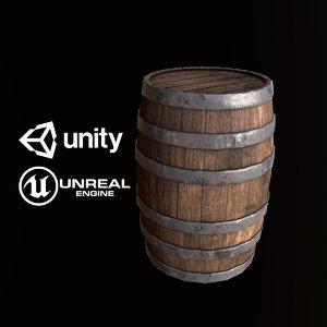 3D pbr ready barrel