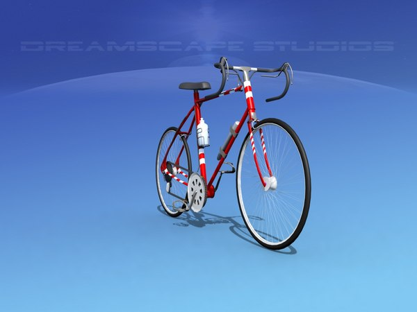 english style racer bicycle 3D model