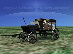 coffin horse drawn hearse model