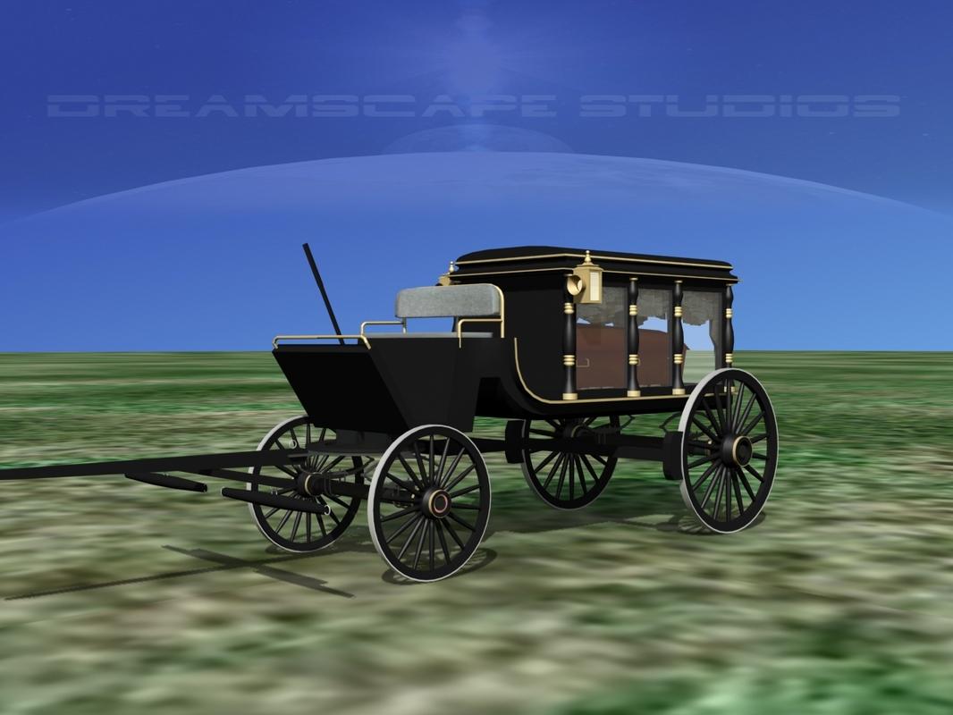 coffin horse drawn hearse model
