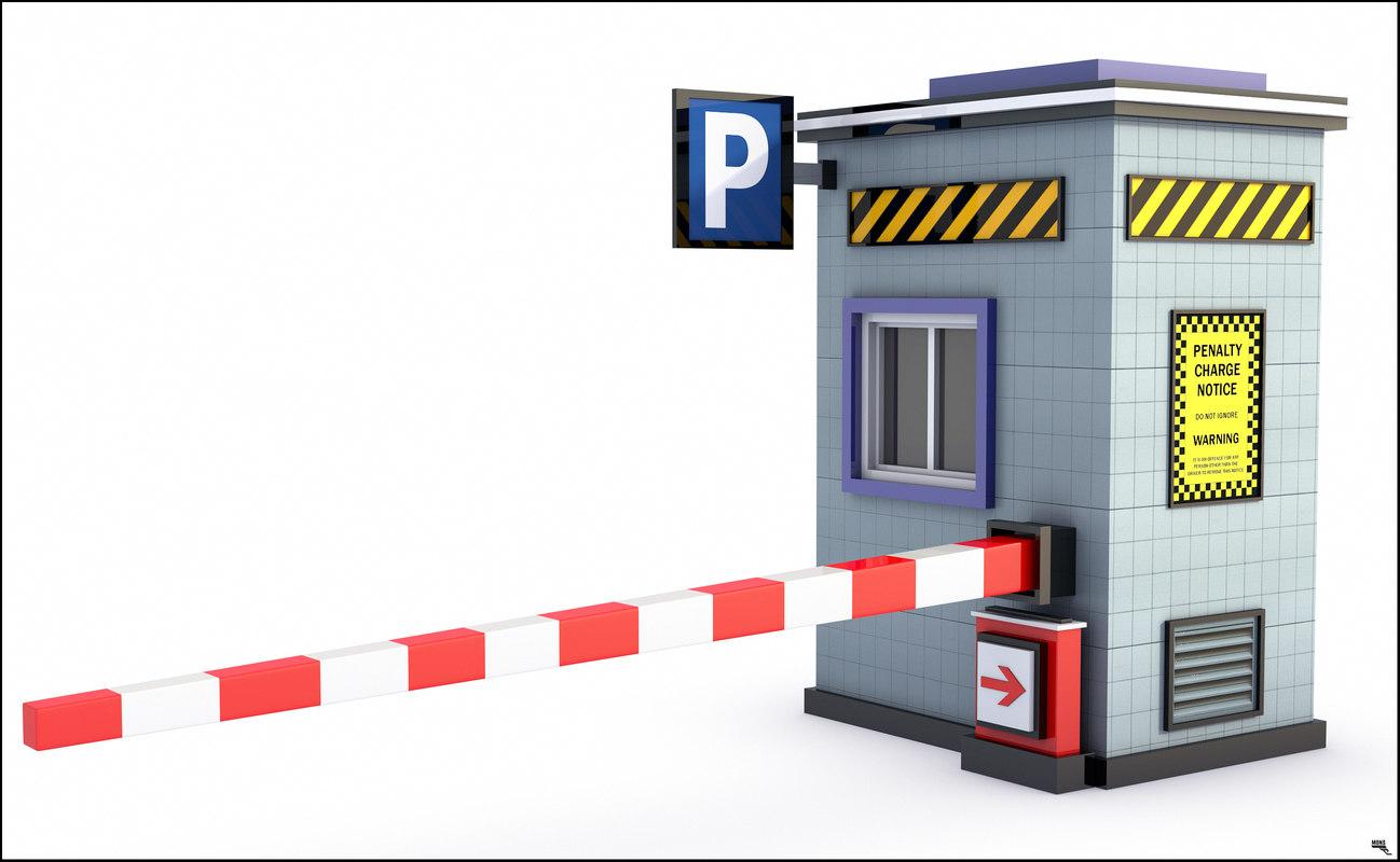 3D model parking barrier
