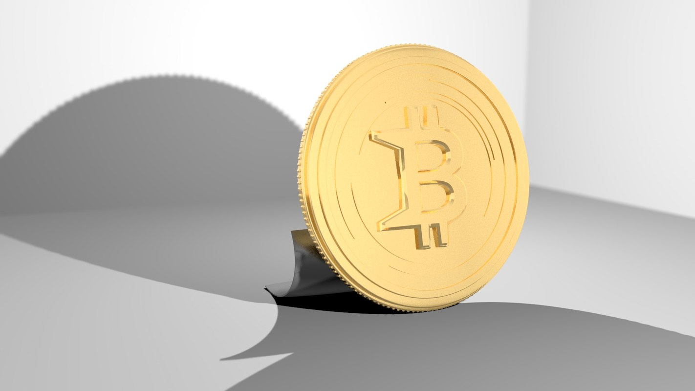 bitcoin - gold print 3D model