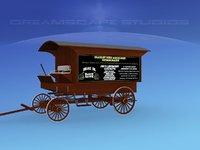 3D wagon medicine model