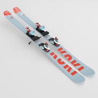 ski corona set 3D model