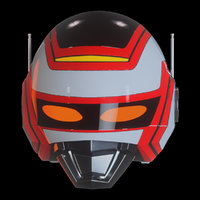 jaspion helmet 3D model