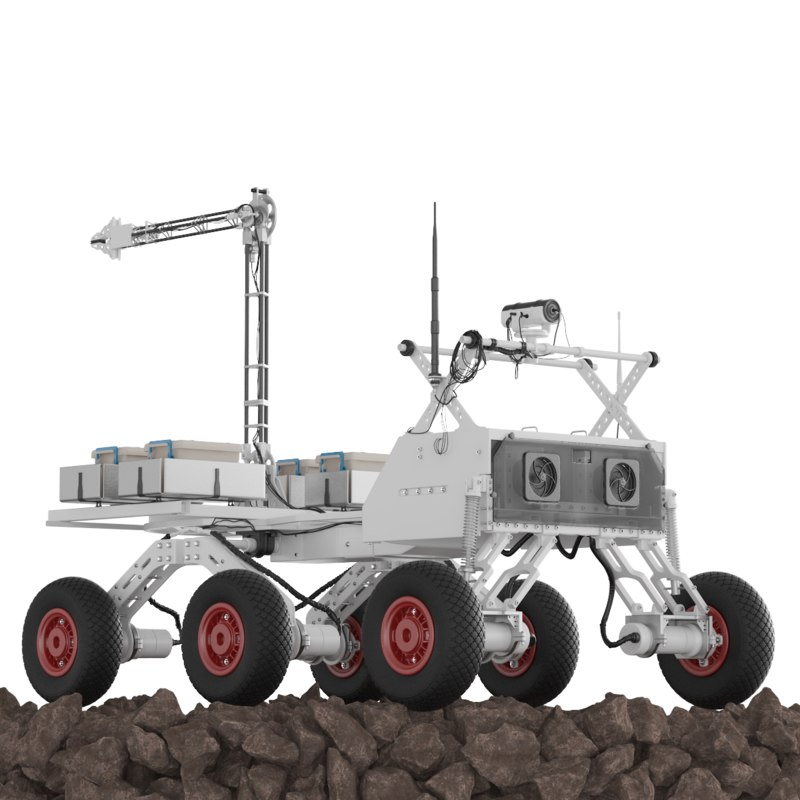 3D rover planet