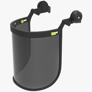 glass visor equipment 3D model