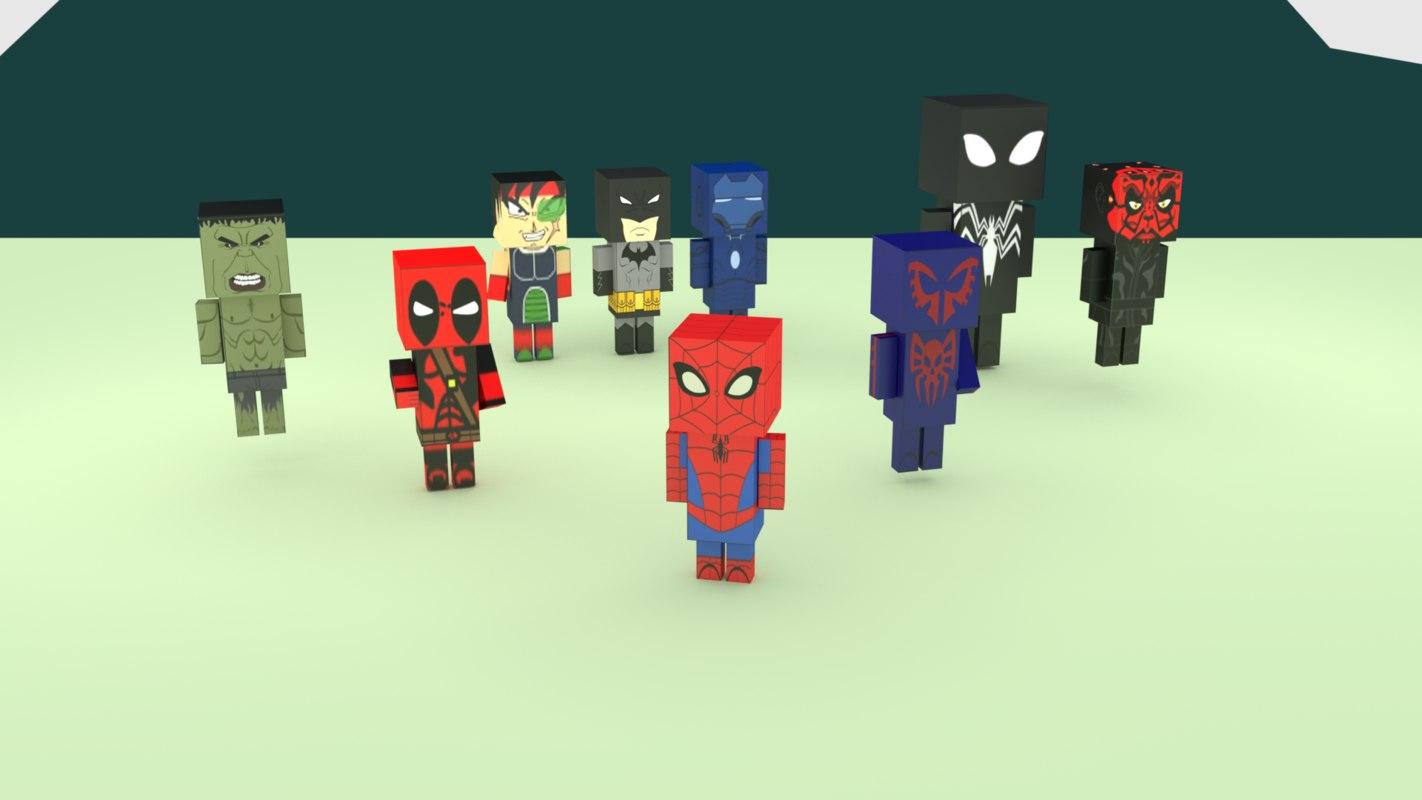 3D model mixed boxart