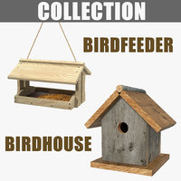 3D bird feeder birdhouse