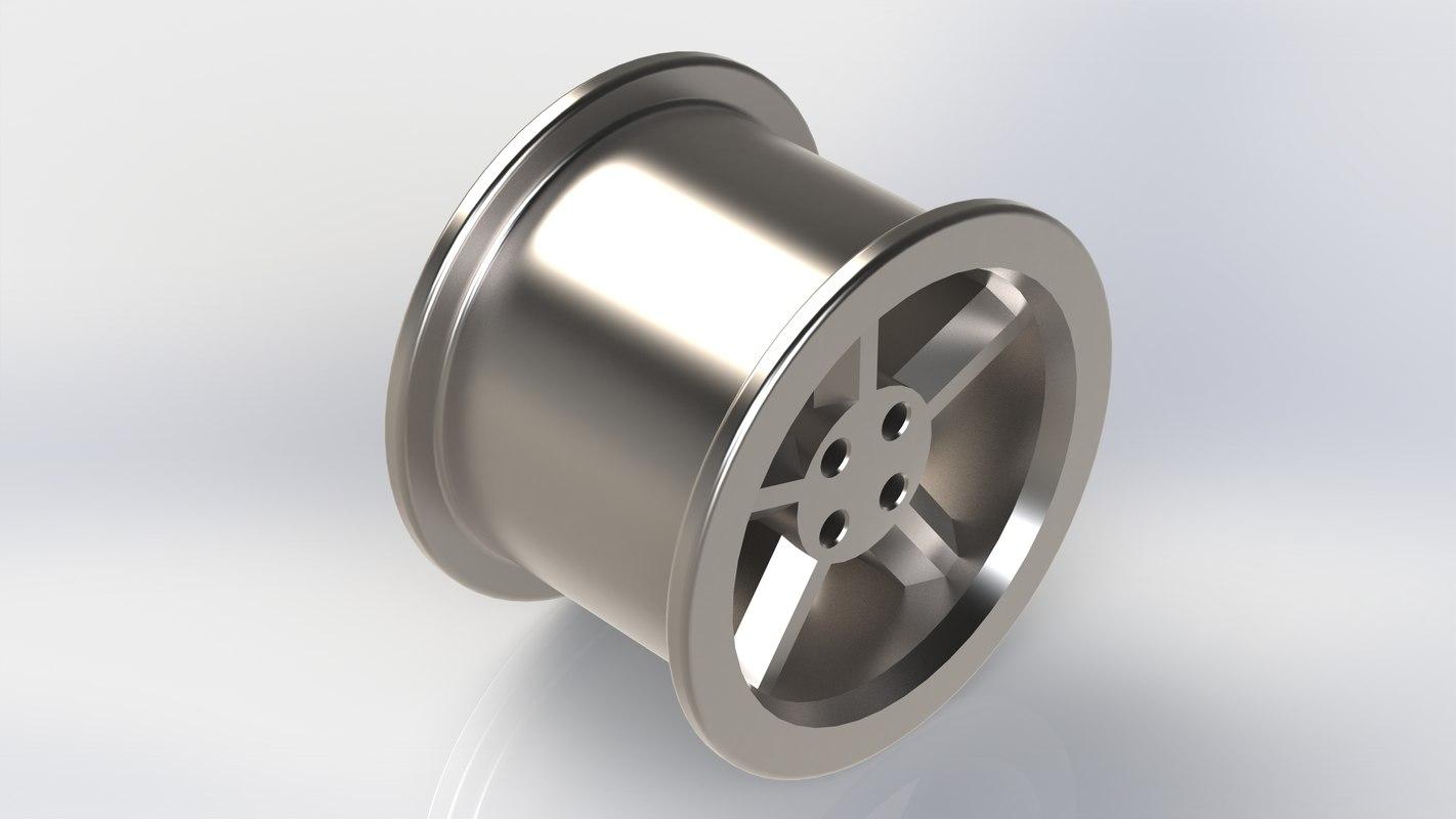 titanium alloy wheel 3D