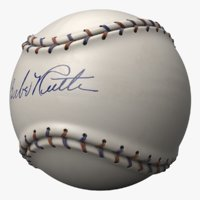 baseball ball babe ruth 3D model