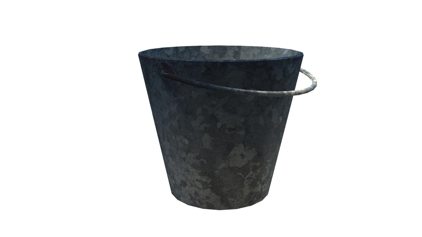 old bucket 3D model