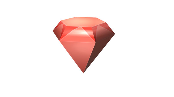 diamonds rendered 3D model