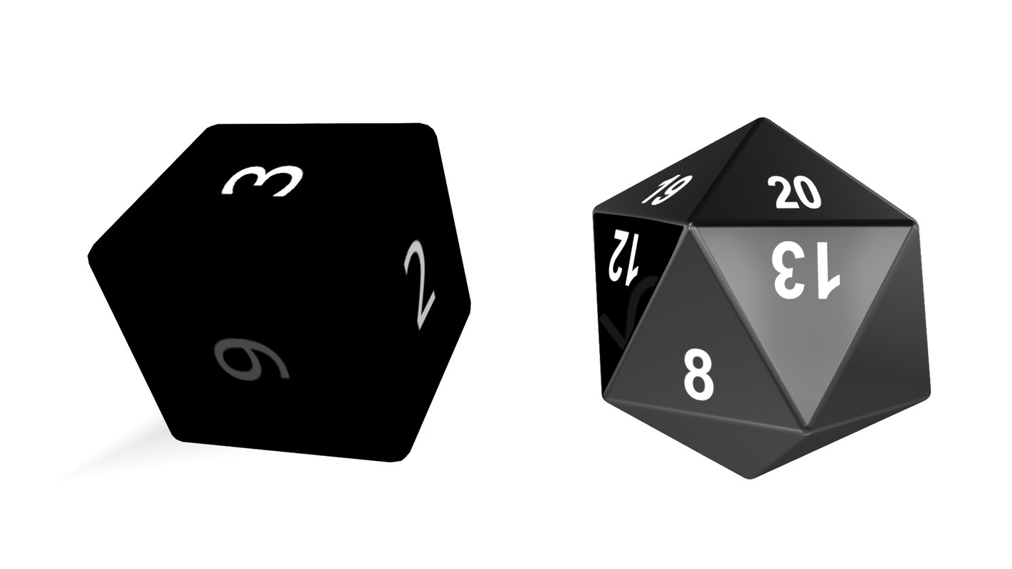 3D model dice 6 sided