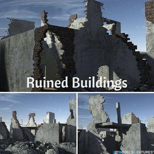 ruined buildings 3D