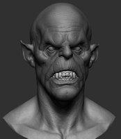 3D vampire head ztl model