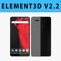 E3D - Essential Phone Titanium 3D model