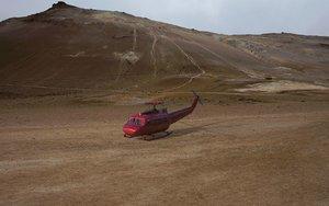 3D model helicopter support transport