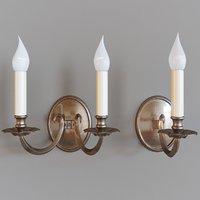3D brass bronze glass model