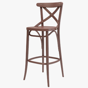 3D model thonet barstool 150 ton