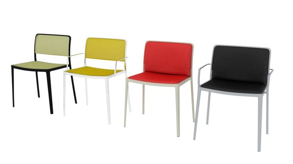 kartell audrey chairs 3D model