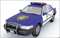 police car 3D model