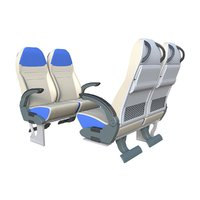 3D scania bus seats