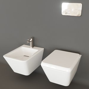 3D lounge bowl bidet model