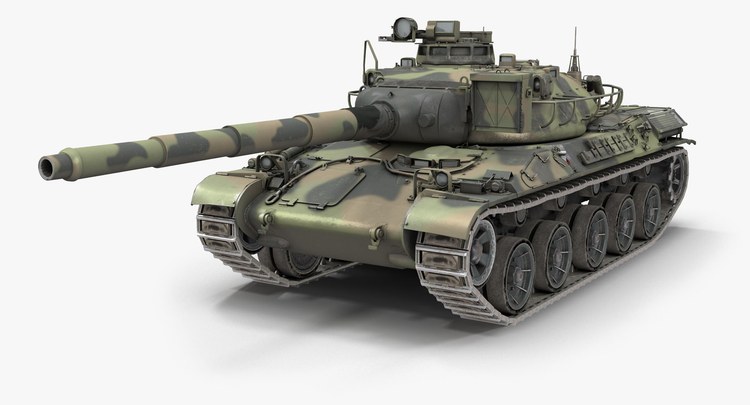 3D french tank amx-30b pbr model