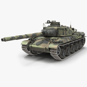 3D french tank amx-30b pbr model