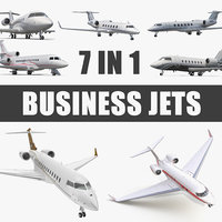business jets 2 3D model