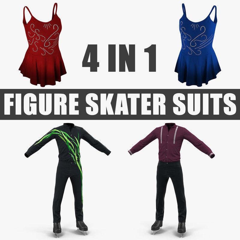 3D figure skater suits