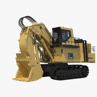 komatsu pc2000 shovel excavator 3D model