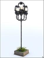 3D street retro lamp model