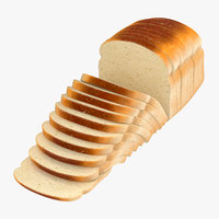 3D sliced bread loose