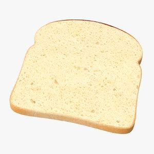 3D sliced bread toast model
