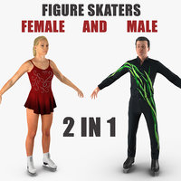 male female figure skaters model