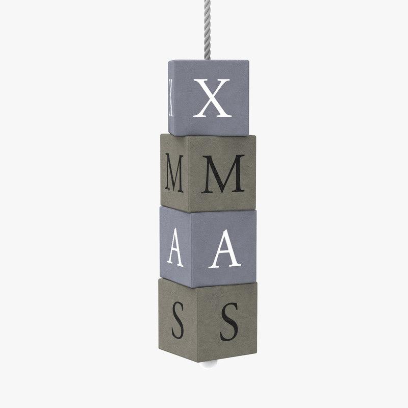 cube letter deco 3D model