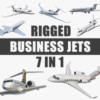 3D rigged business jets 2