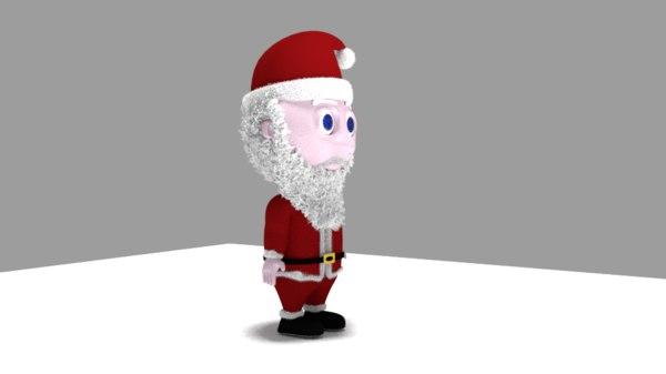 3D model santa character kids