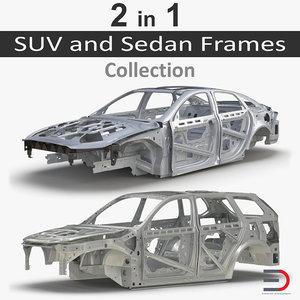 3D suv sedan frames model
