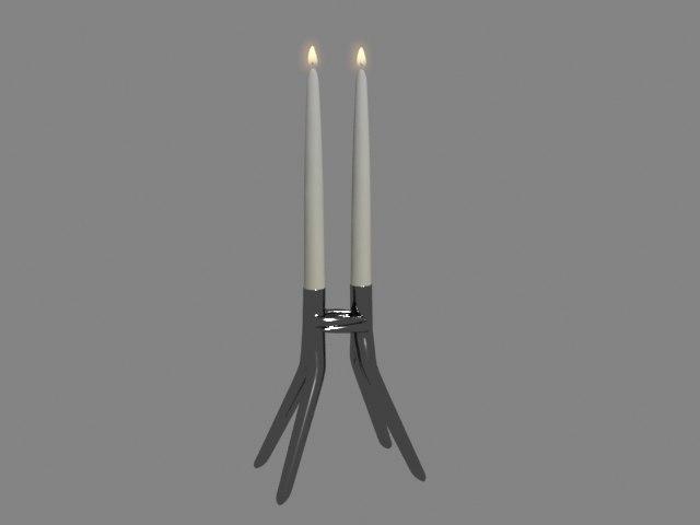kartell abbracciaio candle holder 3D model
