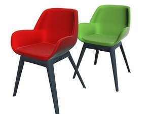 3D kartell clap chair