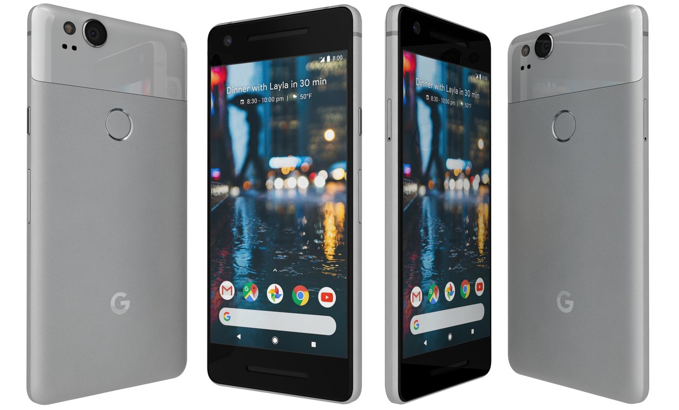 google pixel 2 clearly 3D model