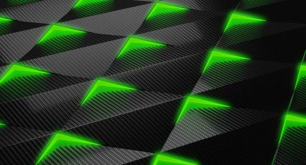futuristic carbon fibre panels 3D model