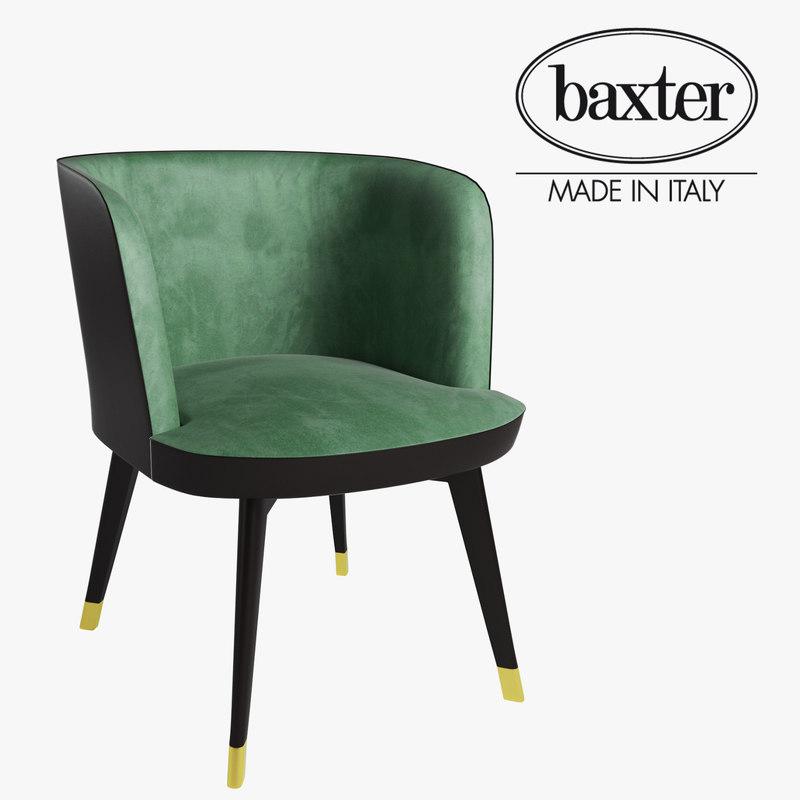 baxter colette little armchair 3D model